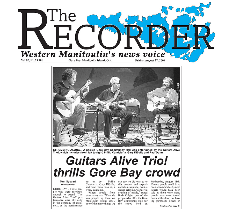 Guitars Alive Quartet Thrills Gore Bay Crowd